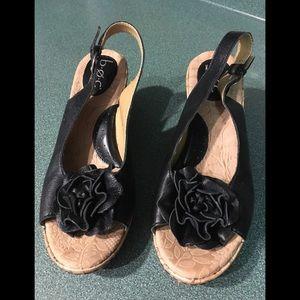 BOC sling back wedge shoes